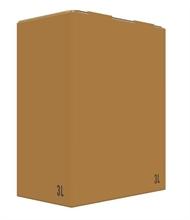 Carton Bib Bag in Box 3L Flexo Oenobag Ecru