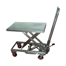Tables élévatrices 200kg inox 304